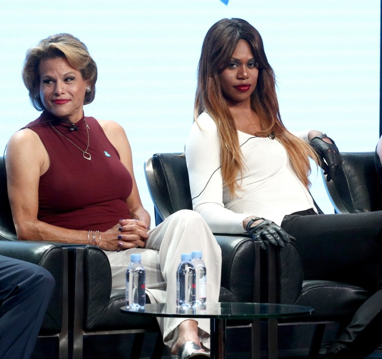 Image: Alexandra Billings and Laverne Cox