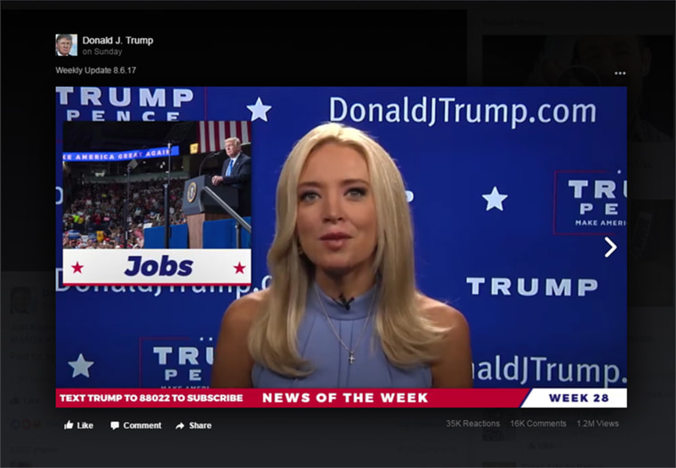 """Image: Kayleigh McEnany hosts \""""News of the Week.\"""""""