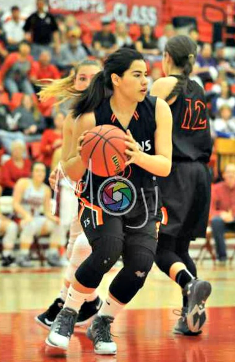 Jazmin plays several sports at Fort Sumner High School in New Mexico.