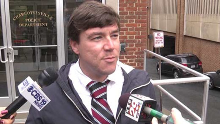 Jason Kessler outside Charlottesville General District Court