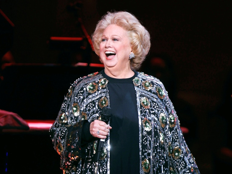 """Image: Singer Barbara Cook performs during the \""""James Taylor at Carnegie Hall\"""" gala"""