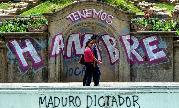 Image: VENEZUELA-CRISIS-OPPOSITION-PROTEST