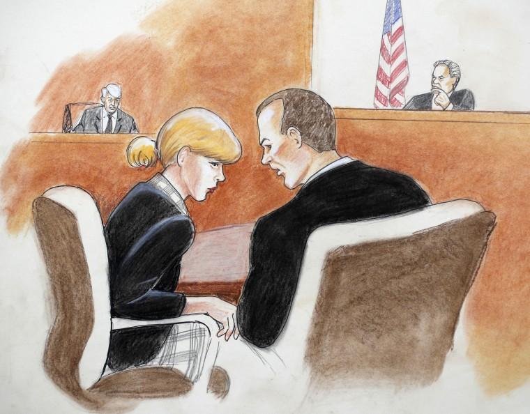 Image: Taylor Swift Courtroom Sketch