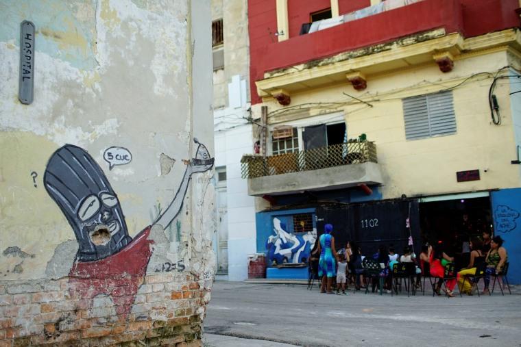 Image: The picture shows a graffiti of Cuban artist Fabian Lopez in downtown Havana, Cuba