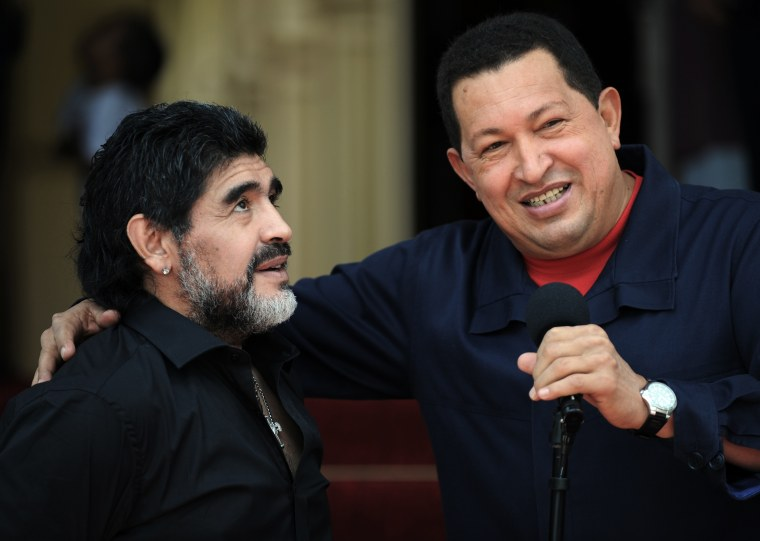 Image: Hugo Chavez and Diego Maradona