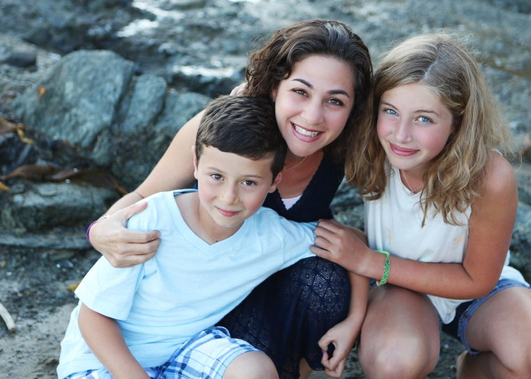 Image: Author Catherine Pearlman with her two children.