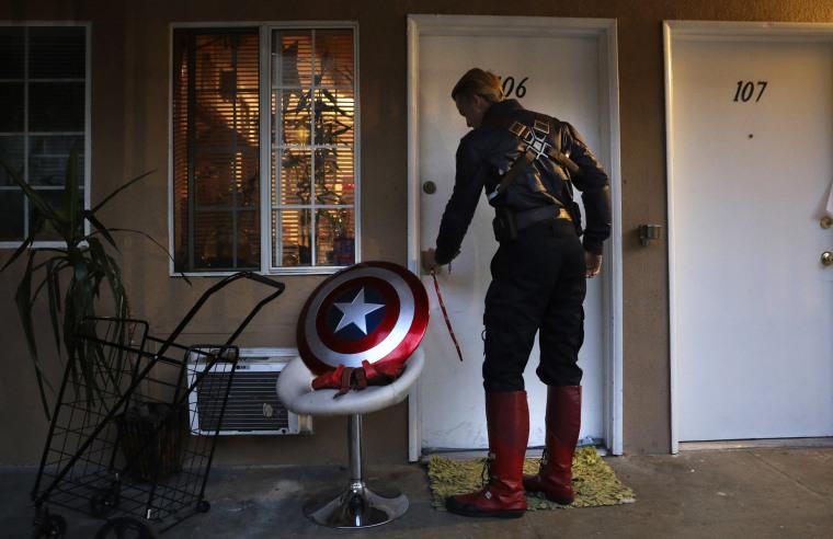 Image: Henry Hodge opens his door