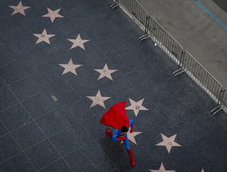Image: Toly Shtapenko walks on the walk of fame