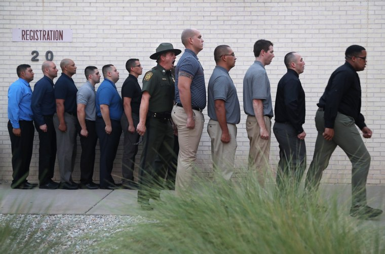Image: *** BESTPIX *** New Agents Train At US Border Patrol Academy In New Mexico