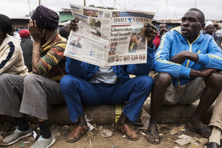 Image: Kenya Tense As Country Waits For Election Results