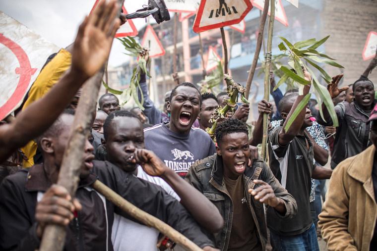 Image: Kenya election tensions