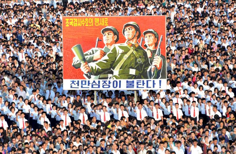Image: Pyongyang Mass Rally