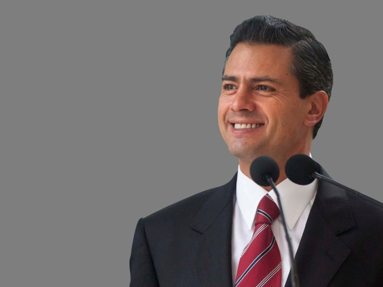 Enrique Pena Nieto headshot, winner of Mexico 2012 presidential election, Mexico City, Mexico.