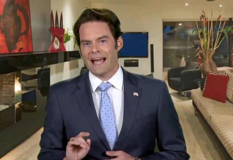 Bill Hader in Character as Anthony Scaramucci