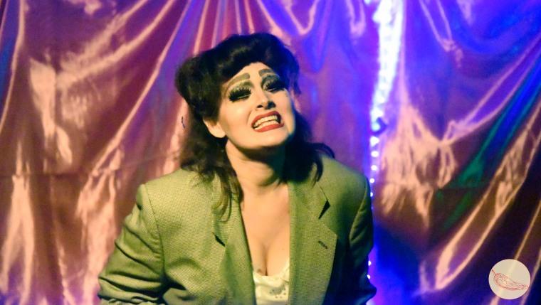 Nomi Latoken, fluid queen, performing at El Escondite Tiki Bar in R?o Piedras