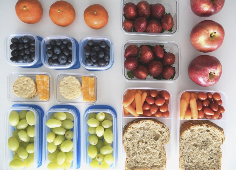Image: Healthy snacks and lunches in containers