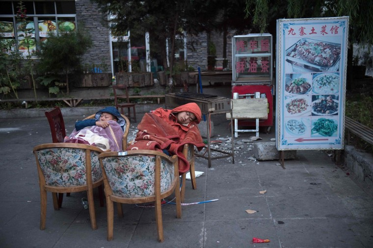 Image: TOPSHOT-CHINA-QUAKE