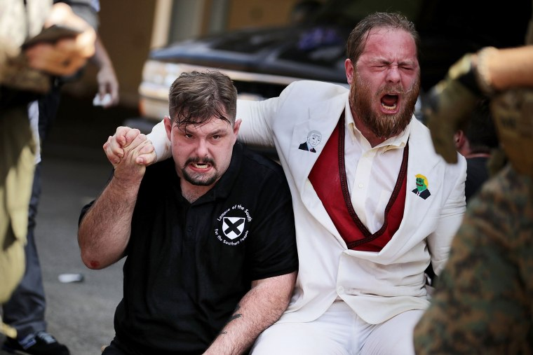 """Image: Violent Clashes Erupt at \""""Unite The Right\"""" Rally In Charlottesville"""