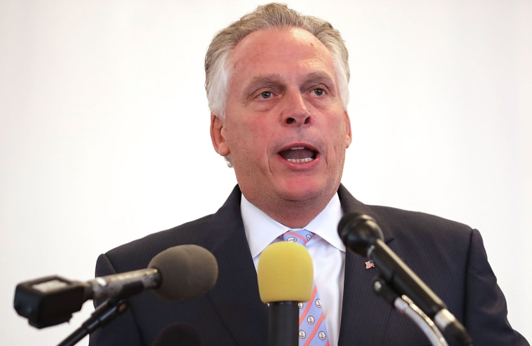 Image: Virginia Gov. Terry McAuliffe delivers remarks during a worship service at Mt. Zion First African Baptist Church