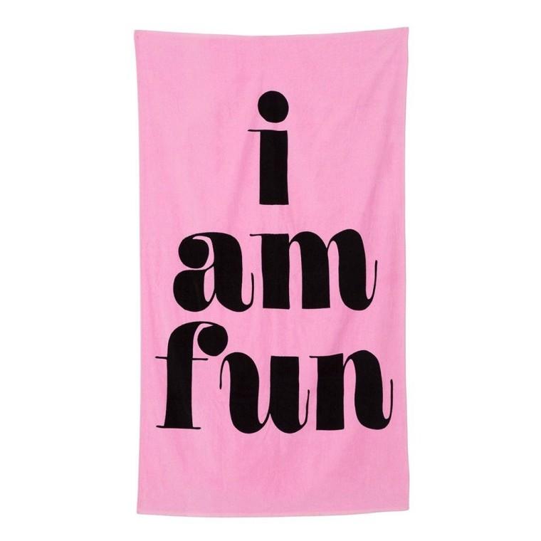 Ban.do I am fun beach towel