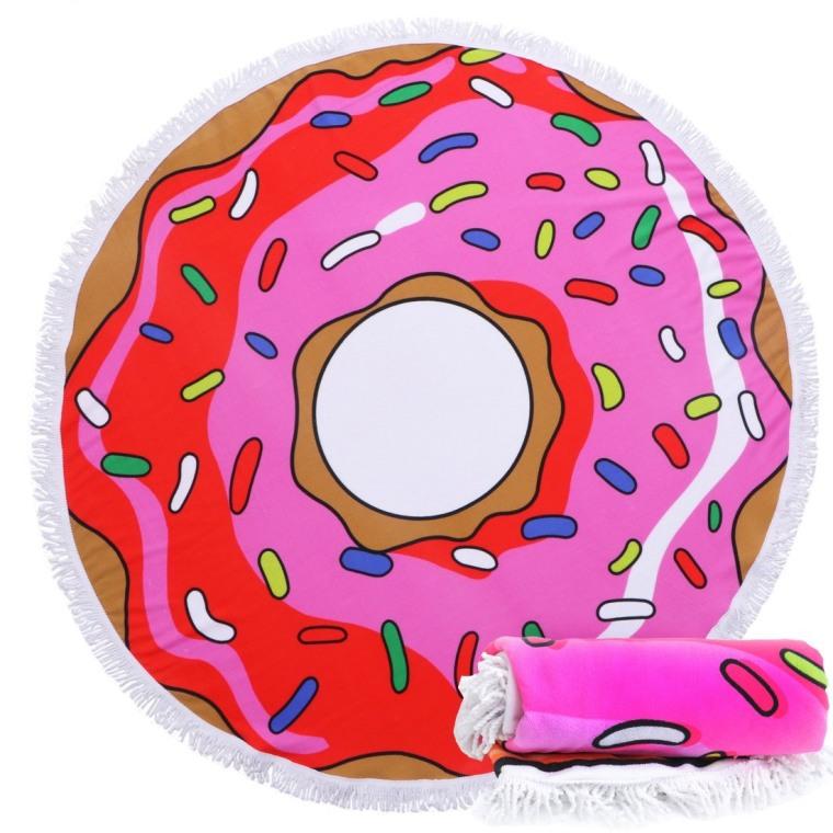 Donut beach towel doughnut