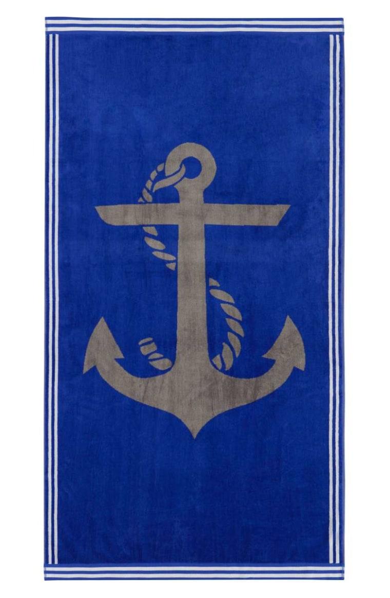 Nautica anchor beach towel