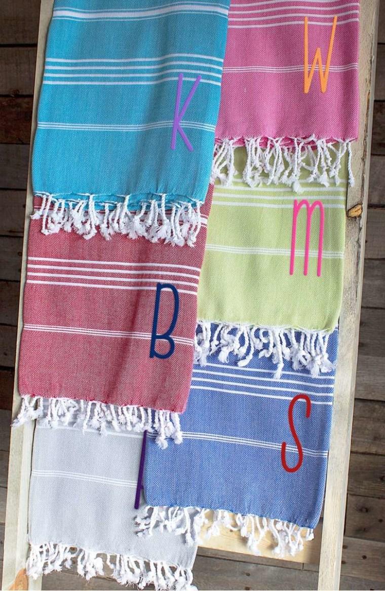 Turkish beach towel monogrammed