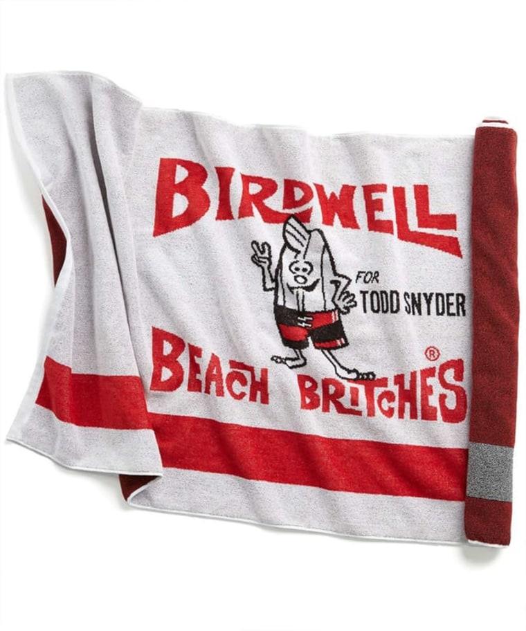 Birdwell Beach Britches by Todd Snyder beach towel