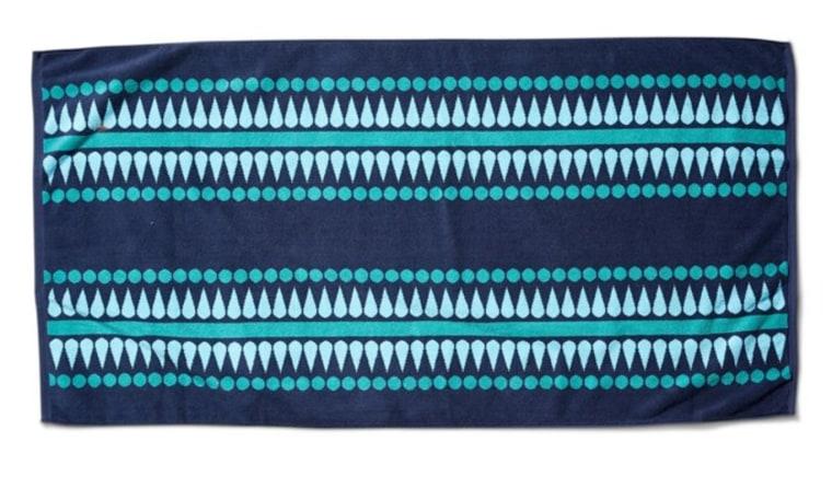 Katie Ridder Mindy beach towel blue pattern