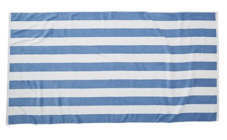 Cabana Blue stripe beach towel