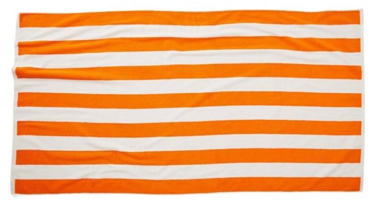 Cabana Stripe Orange beach towel