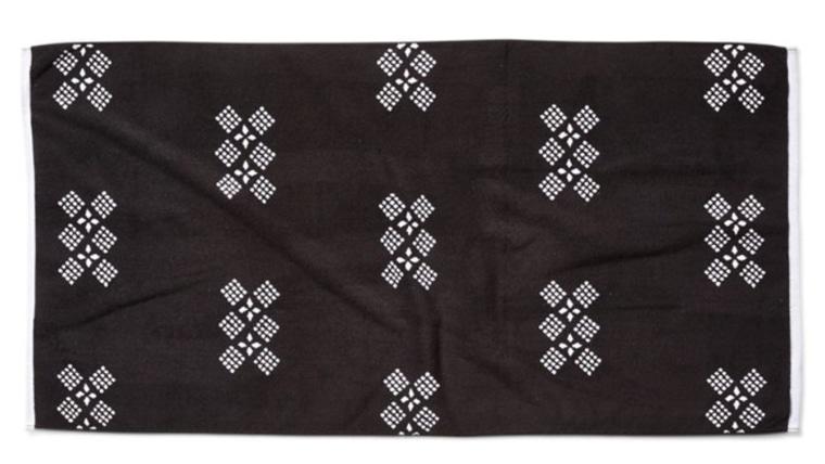 Peffly beach towel One Kings Lane black white