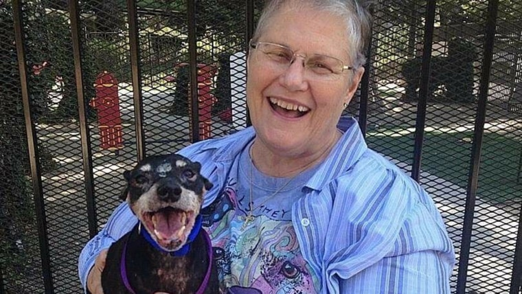 Jake and his new mom Melani Andrews wore matching grins in their adoption photo.