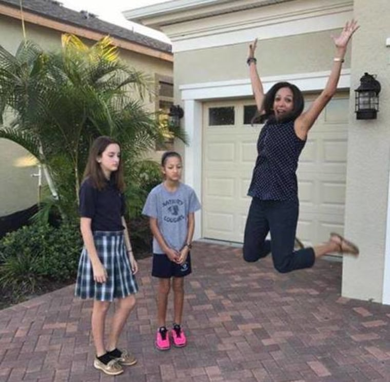 Veronica San Lucas White with her daughters, Sophia, 12, and Gabriella, 9.