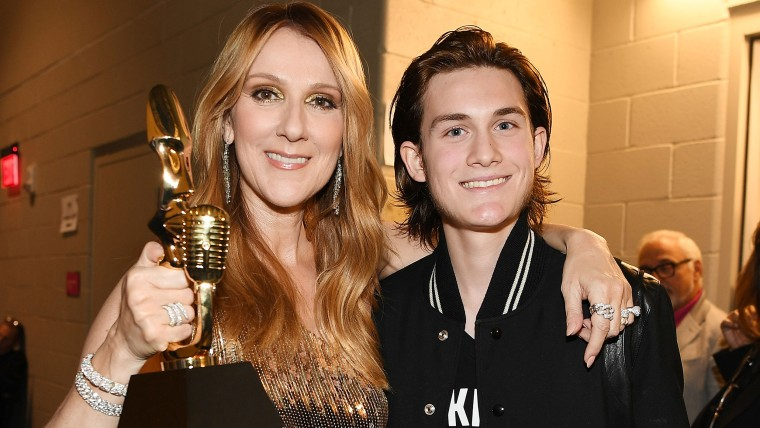Celine Dion and son Rene-Charles Angelil attend the Billboard Music Awards on May 22, 2016 in Las Vegas, Nevada.