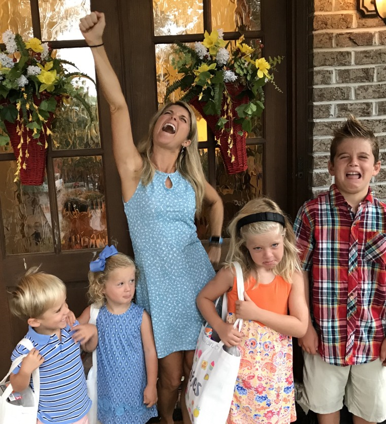 Jacque Rogers Foster and her children, Reece, 9, Sullivan, 6, and twins, Jameson and Avery, 4.