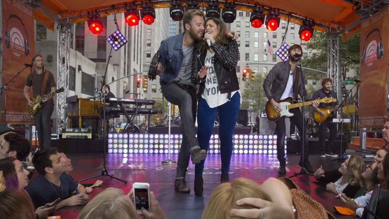 Image: Members of the band Lady Antebellum perform on NBC's 'Today' show in New York