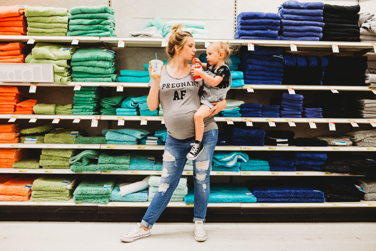 "In the rainbow towel aisle, Miller thought about her rainbow baby, Malin. ""A rainbow baby is the rainbow after the storm, a baby that comes after a loss,"" Miller told TODAY."