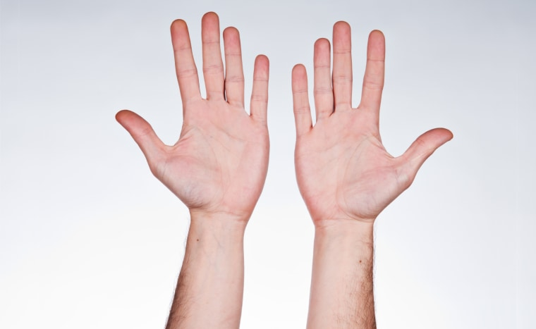 Two hands with palms facing up