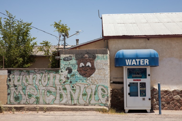 Image: Local water filling station, New Mexico