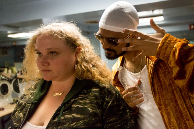 "Danielle Macdonald and Siddharth Dhanajay play aspiring rappers in the upcoming film ""Patti Cake$."""