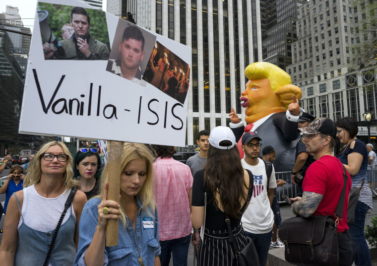 Image: Protesters gather in New York