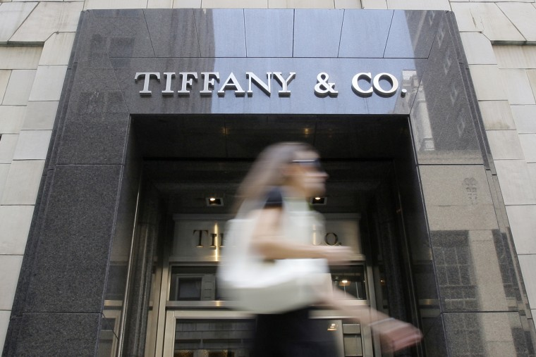 A pedestrian passes a Tiffany and Co. jewelry store in Philadelphia.