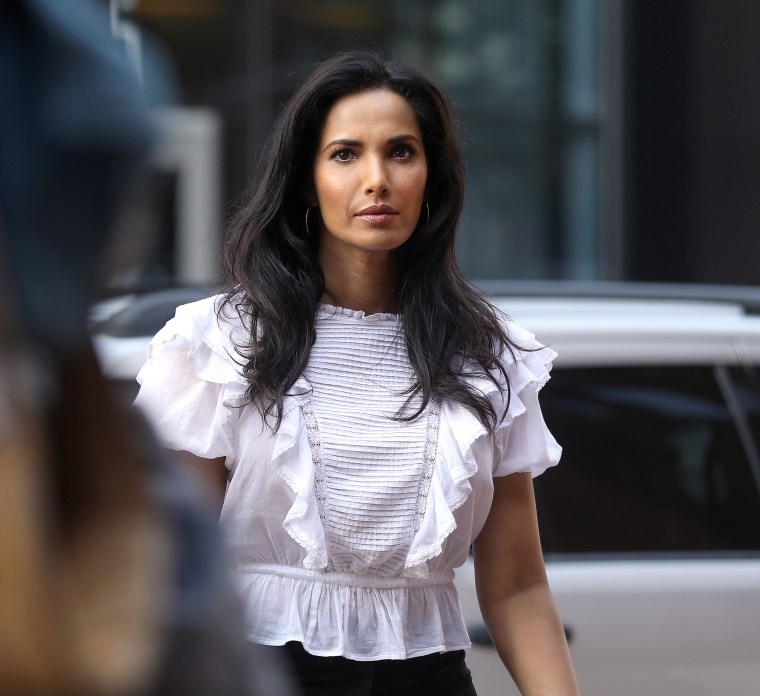 Image: Top Chef host Padma Lakshmi arrives at the John Joseph Moakley United States Courthouse in Boston