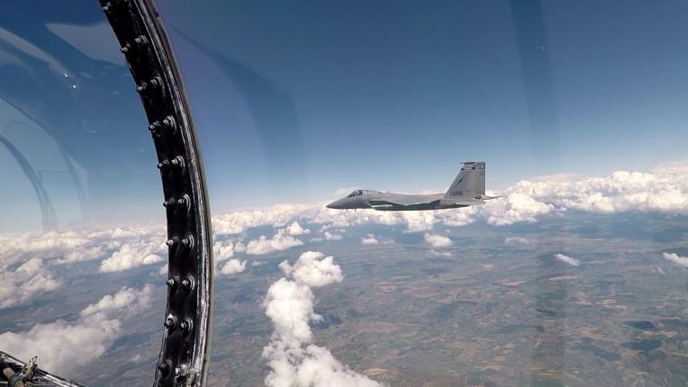 Image: F-15s take part in drills over Romania.