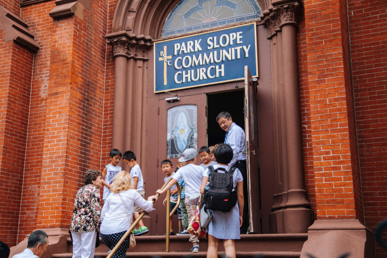The All Nations Baptist Church in Brooklyn, where the Rev. Leonid Kim leaded a congregation, shares a spiritual home with another church.