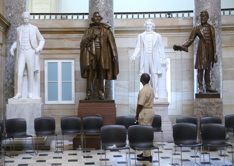 Image: Symbols Of Confederacy Visible In U.S. Capitol
