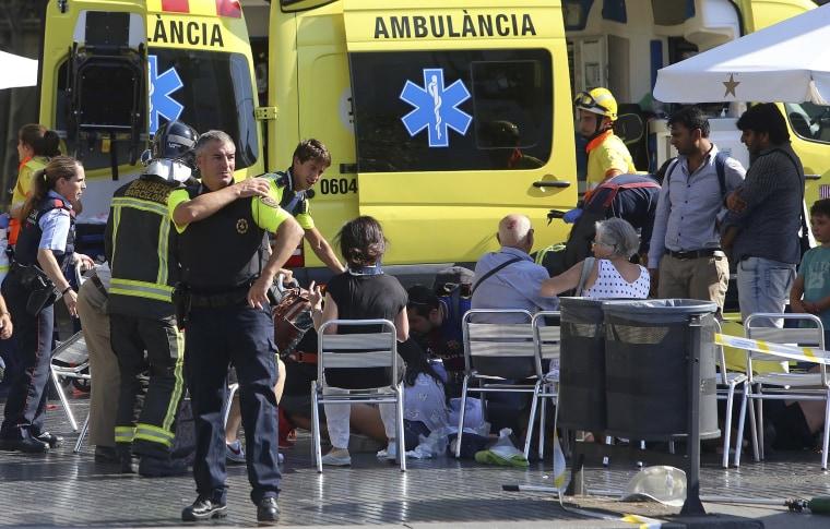 Image: Barcelona attack scene