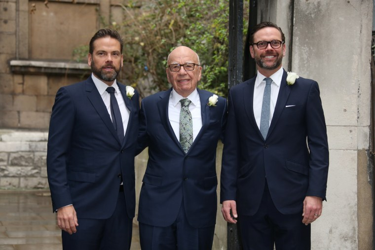 Image: Lachlan Murdoch, Rupert Murdoch and James Murdoch