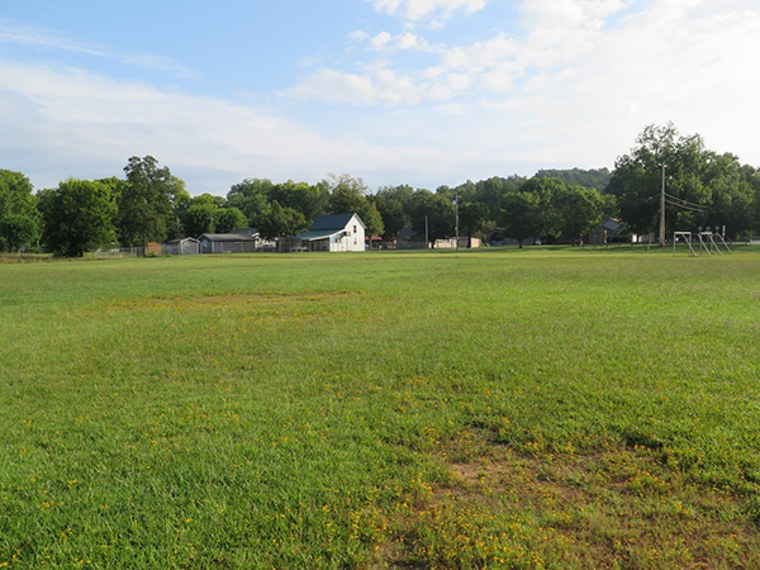 Veteran's Park, one of two designated viewing sites, will host national and international visitors in the spot where the town's 4th of July pickle eating contest and duck races are held.